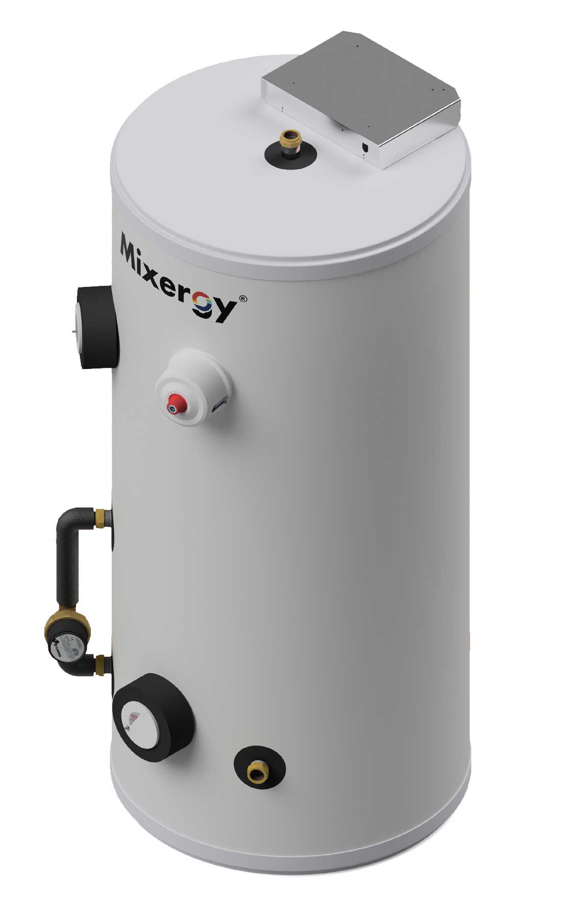 Mixergy hot water cylinder
